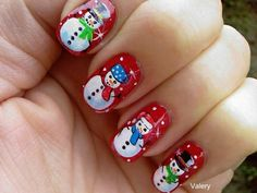 Christmas Nail Art Design. 30 Best Ideas and Step by Step Tutorials. Snowman