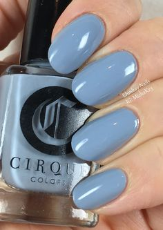 ehmkay nails: Cirque Colors Storm King and Selvedge Gradient with Discotheque