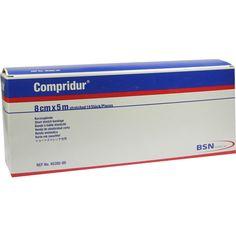 COMPRIDUR Kompr.Binde 8 cmx5 m:   Packungsinhalt: 10 St Binden PZN: 04592629 Hersteller: BSN medical GmbH Preis: 149,51 EUR inkl. 19 %…