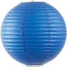 """Blue 12"""" Paper Lantern - Glitzy Bubbly"""