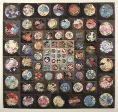 Karen Fisher art quilt with Asian fabrics
