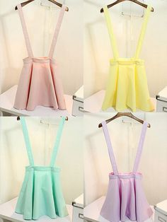 Pastel Suspender Skirt (Choose Color) $24.00 Use the code PASTELCUTIE at checkout for 10% off! ♥
