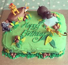 Lion Guard cake - with toy cheats