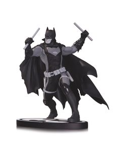 """BATMAN BLACK & WHITE EARTH 2 BATMAN STATUE  DESIGNED BY NICOLA SCOTT  SCULPTED BY MAT BROUILLARD  The Dark Knight of Earth 2 enters the world of the best-selling Batman Black & White line with this wonderfully sculpted statue based on the designs of fan-favorite artist Nicola Scott!    Measures Approximately 6"""" Tall  $79.95 US • On Sale January 2014 * Allocations May Occur"""