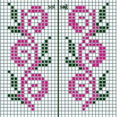 Ribbon Flowers Embroidery Ideas: Learn Stitching for Beginners - frieda Cross Stitch Bookmarks, Cross Stitch Borders, Cross Stitch Flowers, Cross Stitch Charts, Cross Stitch Designs, Cross Stitching, Cross Stitch Embroidery, Cross Stitch Patterns, Fair Isle Knitting Patterns