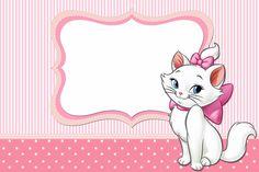 Convites gratuitos para imprimir da Gatinha Marie - Dicas pra Mamãe