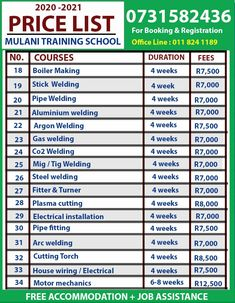 Fully Registered Training school of Excavator, TLB, Grader, Bullodzer, Mobile Crane, Front End Loader, Roller, Grader, Rigging, LHD Scoop, Drill Rig Certificate and License Renewals in Germiston, We do Offer Free accommodation to all students from Far areas Also school do assist in Job Replacement after training Email us : mulanioperators@yhaoo.com Tell: 0118241189 / cell: 0731582436 / 0630966899 Call us / WhatsApp: +27731582436 Welding Courses, Welding Training, Dangerous Goods, Drilling Rig, Training School, Free Classified Ads, School Office, Training Center, Find A Job