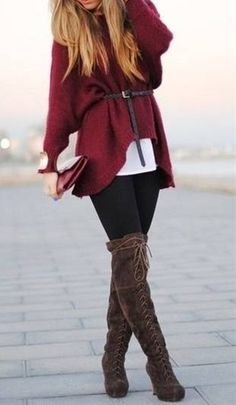 knee high lace up boots