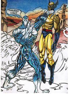 Glacius vs Wolverine by mazedicer.deviantart.com on @deviantART