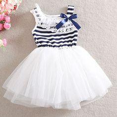 Sleeveless Striped Girls Dress, 3% discount @ PatPat Mom Baby Shopping App