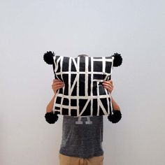 Poppytalk: DIY | Graphic Pillows by Arren Williams