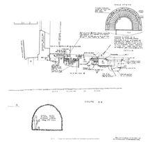 Baptistère St-Jean: PL. V - Coupe est-ouest des fouilles de l'absidiole attenant au narthex.