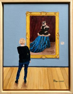 In the museum- Camille from Claude Monet by Alex Olzheim