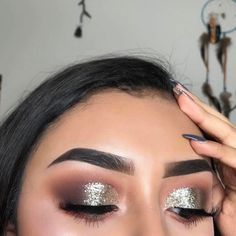 """polish-killa: """"🌹 """" Find luxury makeup for less here Find vegan makeup tools here Find affordable fashion here Glitter Eyebrows, Glitter Makeup, Glitter Eyeshadow, Makeup Dupes, Eyebrow Makeup, Makeup Eyeshadow, Makeup Eyebrows, Eyeshadows, Makeup Brushes"""