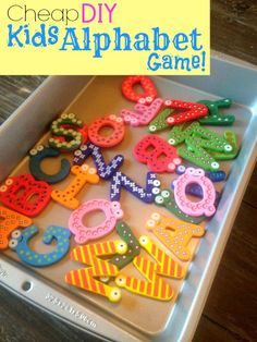 Cheap DIY Kids Alphabet Game - Love this Easy Kids Craft!