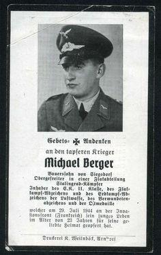 orig. WK2 STERBEBILD - DEATH CARD - NORMANDIE 1944 FRANKREICH STALINGRAD KÄMPFER