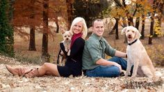 Family pictures with dogs pose