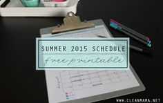 Organize all those summer classes and activities with ease with this FREE printable from Clean Mama