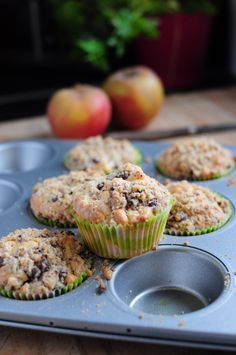 Muffins pommes crumble chocolat