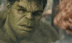Hulk is tamed by Black Widow.