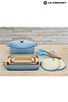 Le Crueset Coastal Blue set