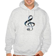 MensHoodie Music Note by Nicky`s Addiction