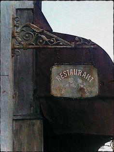 Antique Restaurant: Paris Restaurant Sign