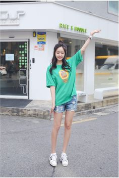 Chips Vintage Shorts | Korean Fashion