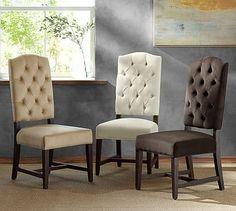 "Ashton Tufted Chair #potterybarn 20.75"" l x 26"" w x 44"" h"