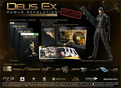 Deus Ex: Human Revolution Collector s Edition for PC - Sealed - 2011 Deus Ex Human, Animation Storyboard, Box Design, The Collector, Revolution, Book Art, Seal, Consoles, Video Games