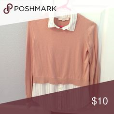 blouse/sweater combo sweater with built in blouse (tunic) LOFT Sweaters Crew & Scoop Necks