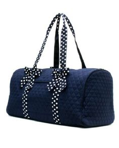 Personalized Quilted Navy Duffle Bag by SweetThoughtBoutique, $35.99
