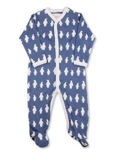 Penguin Jumpsuit Dark Blue Organic Cotton | Penguin Organics