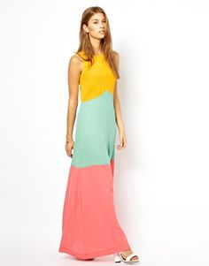 Image 1 of Jarlo Jasmine Color Block Maxi Dress