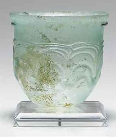 A MIGRATION PERIOD GLASS BEAKER   c. 5th Century A.D  Source: Christies The right period!