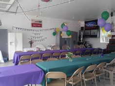Graduation Party Curtain Draping In Garage Grad Party
