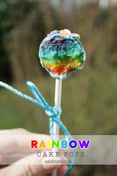 How to make Rainbow Cake Pops  http://andcute.com/rainbow-cake-pops-from-scratch/