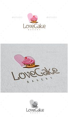 Buy Love Cake Logo by MS_designer on GraphicRiver. Love Cake Logo -AI and EPS file -CMYK mode vector and resizable -Easy to edit color and text -Love Cake Logo(Co. Resturant Logo, Logo Restaurant, Pastry Logo, Cake Branding, Cupcake Logo, Cake Logo Design, Owl Logo, Drinks Logo, Logo Creation