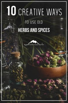 10 Creative Things to do with Old Spices and Herbs Herbal Remedies, Natural Remedies, Mountain Rose Herbs, Herbs For Health, Health Tips, Old Spice, Spices And Herbs, Healing Herbs, Green Cleaning