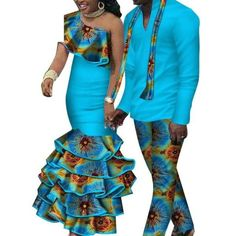African Matching Clothing For Couple Man Woman Cotton Print Send Your – Afrinspiration Traditional African Clothing, African Dresses Men, African Dashiki, Matching Couples, Model Photos, Tie Dye Skirt, African Weddings, Clothes For Women, Womens Fashion