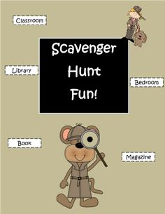 Allow your students to do these fun scavenger hunts using the resources right in the classroom school or their own bedroom. #freeprintables #TeacherSherpa