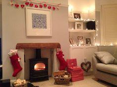 Living room, Log burner, Little Greene paint