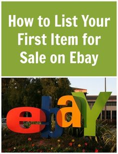 Getting started is as simple as learning How to List Your First Item for Sale on… Making Money On Ebay, Make Money From Home, Way To Make Money, Make Money Online, Money Fast, Ebay Selling Tips, Ebay Tips, Selling Online, Selling Apps