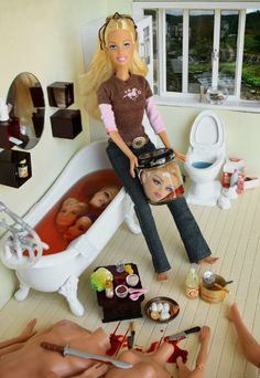 Murderer Barbie... No one ever suspected her