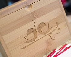 bridal shower recipe box | Lovebirds Recipe Box - Gift for the Bride - The Wedding Chicks