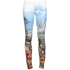 MOTHER DENIM THE LOOKER SKINNY JEAN found on Polyvore