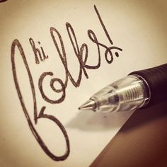 """hi folks!"" __ Hand Lettering by [ts]Christer"