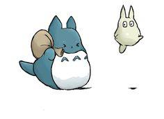 Chu Totoro by capricorn-gnome