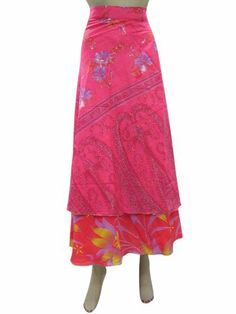Wrap Around Skirt Pink Vintage Sari Long Beach Dress Reversible Wrapskirt Mogul Interior,http://www.amazon.com/dp/B00H95T3QQ/ref=cm_sw_r_pi_dp_LUBQsb0WNA9MWA8Q