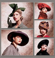 The green 40's hat is amazing! The plum one's not bad either - maybe for summer?